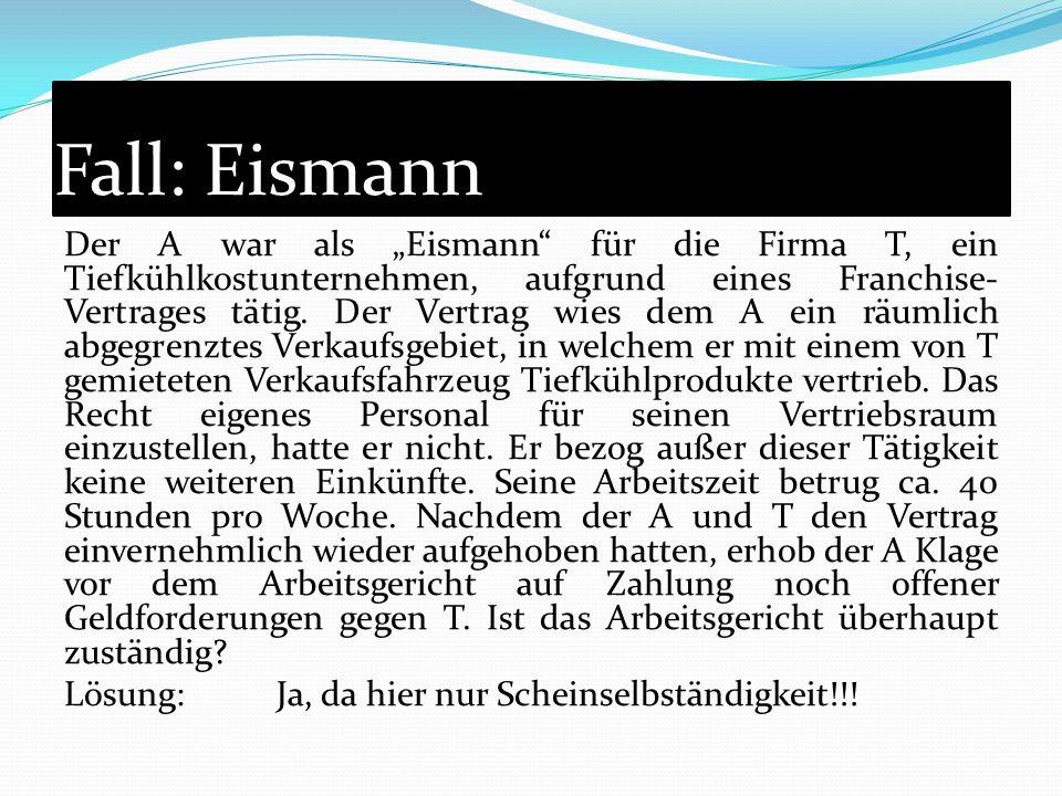 Fall: Eismann