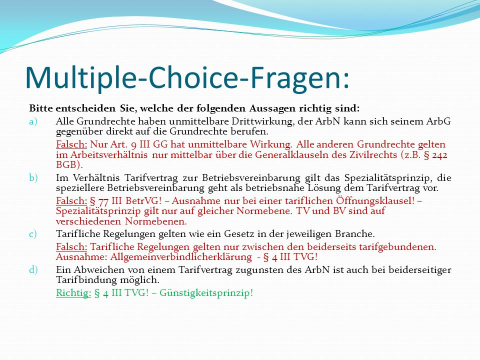 Multiple-Choice-Fragen: