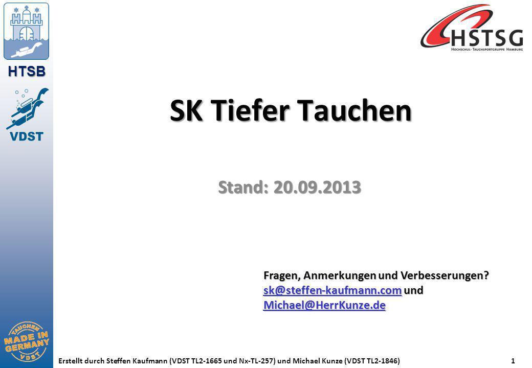 SK Tiefer Tauchen Stand: 20.09.2013