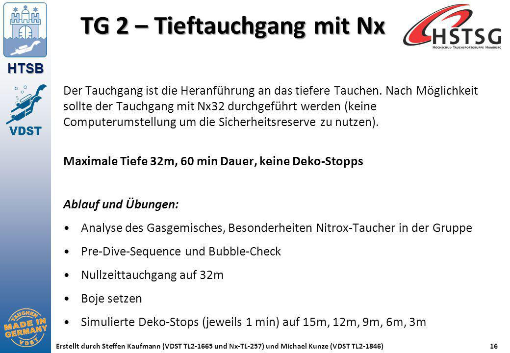 TG 2 – Tieftauchgang mit Nx