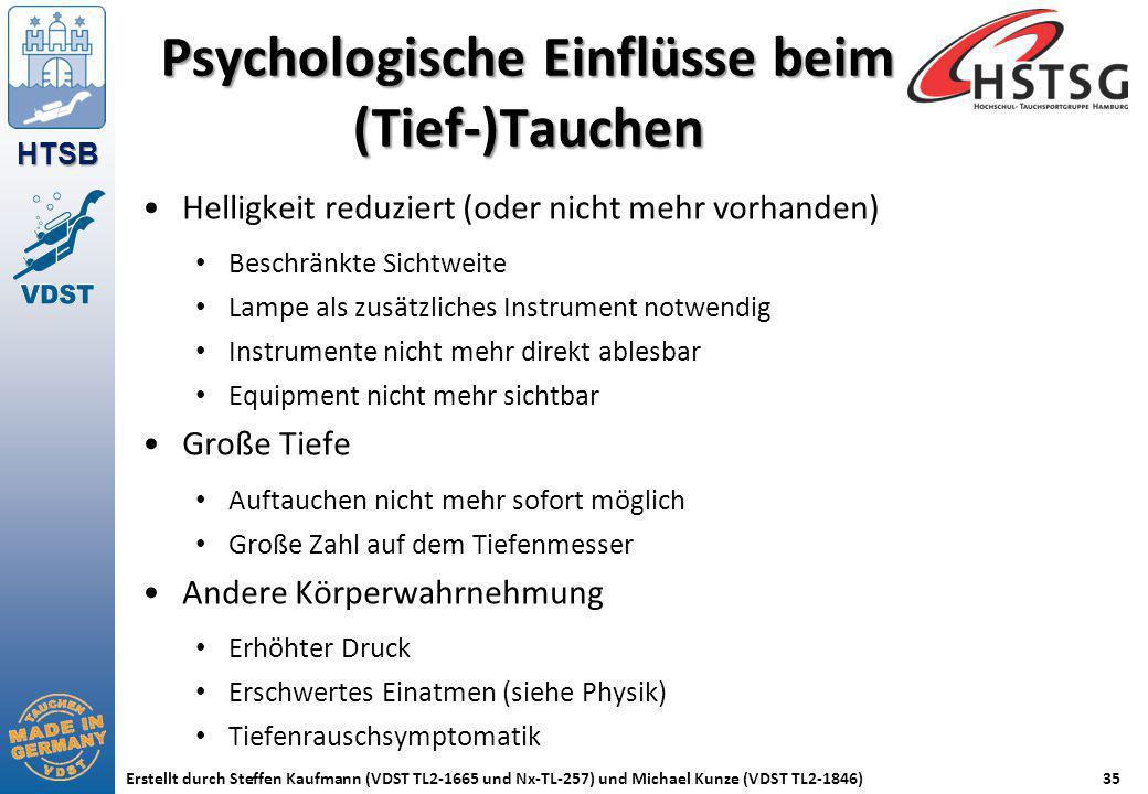 Psychologische Einflüsse beim (Tief-)Tauchen