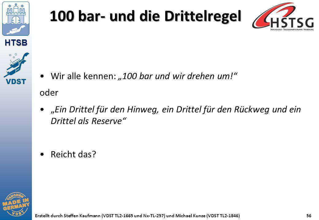 100 bar- und die Drittelregel