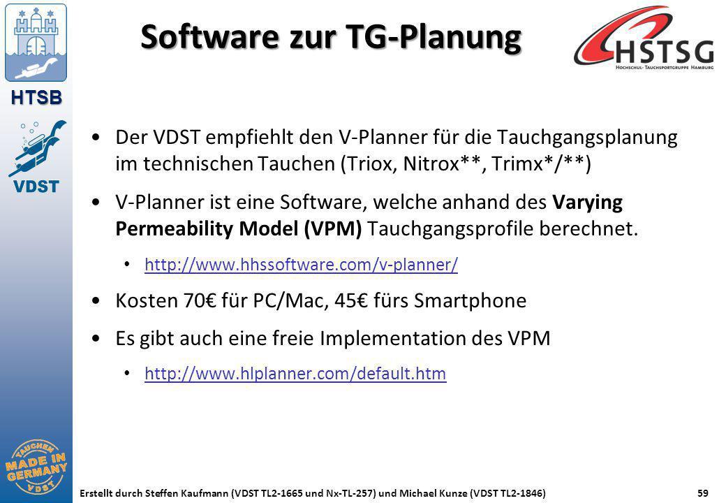 Software zur TG-Planung