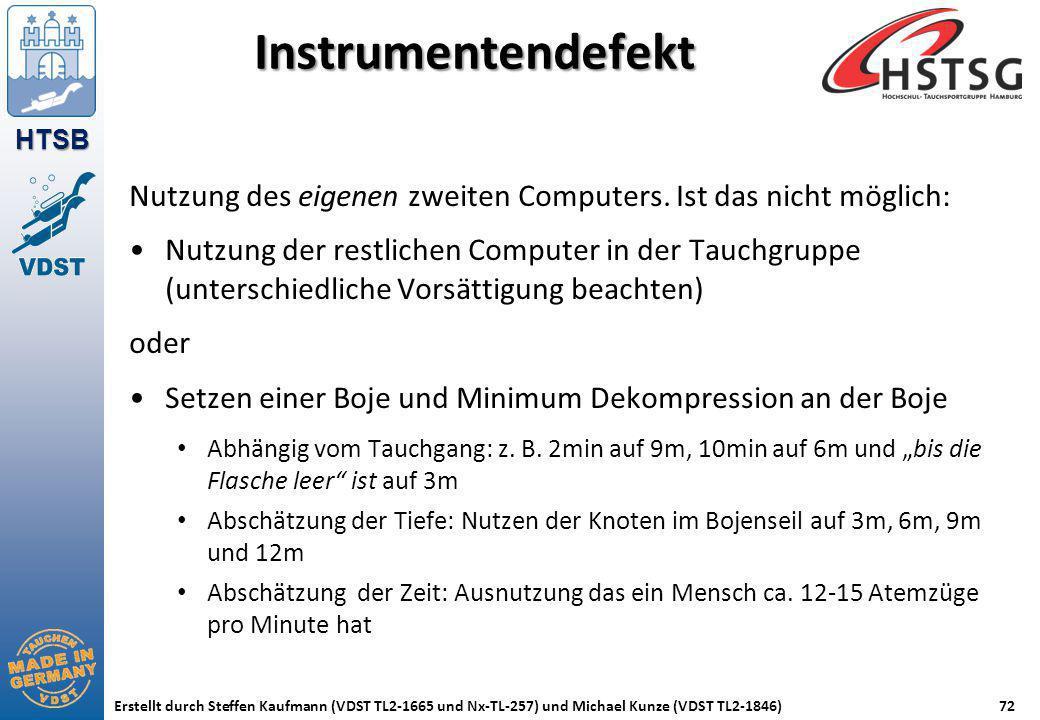 Instrumentendefekt Nutzung des eigenen zweiten Computers. Ist das nicht möglich: