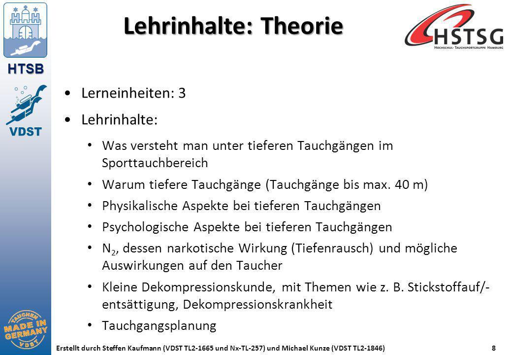 Lehrinhalte: Theorie Lerneinheiten: 3 Lehrinhalte: