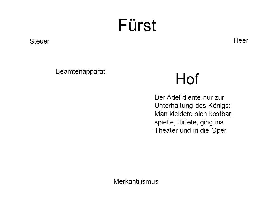 Fürst Hof Heer Steuer Beamtenapparat