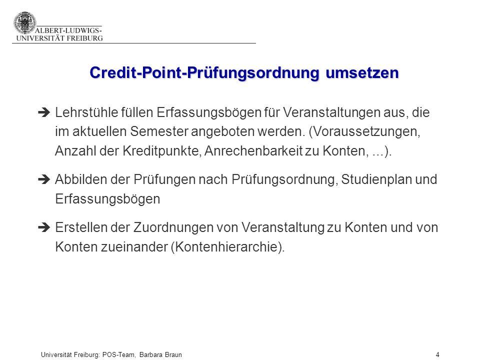 Credit-Point-Prüfungsordnung umsetzen