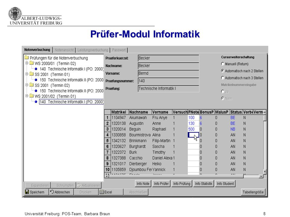 Prüfer-Modul Informatik