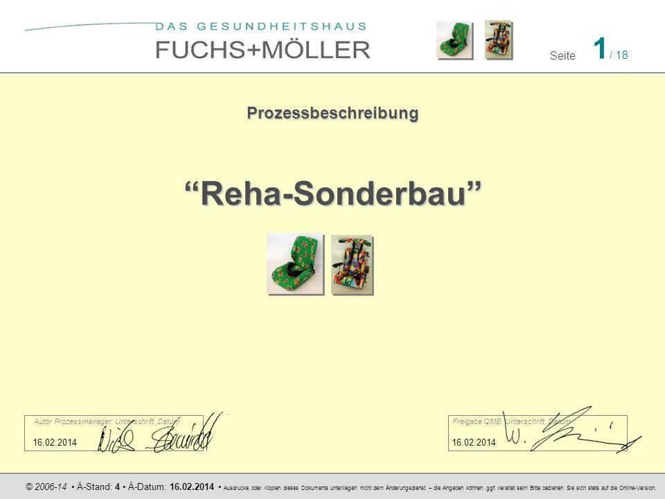 Reha-Sonderbau Prozessbeschreibung 16.02.2014 16.02.2014