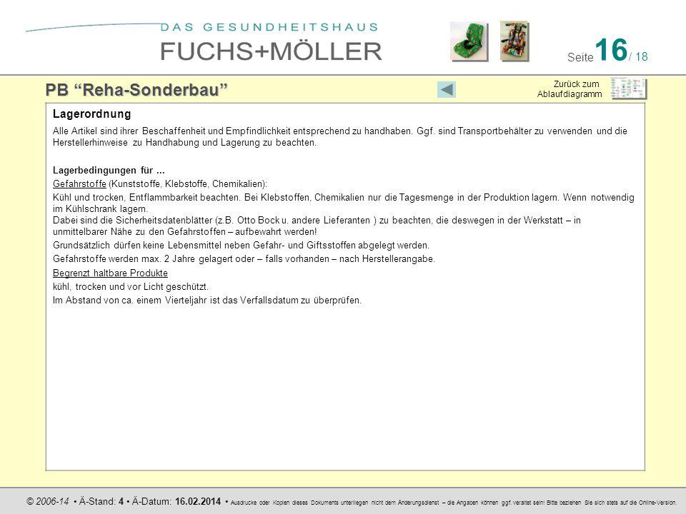 PB Reha-Sonderbau Lagerordnung