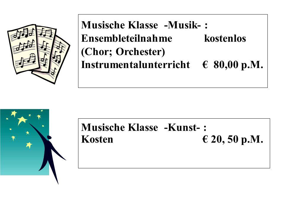 Musische Klasse -Musik- :
