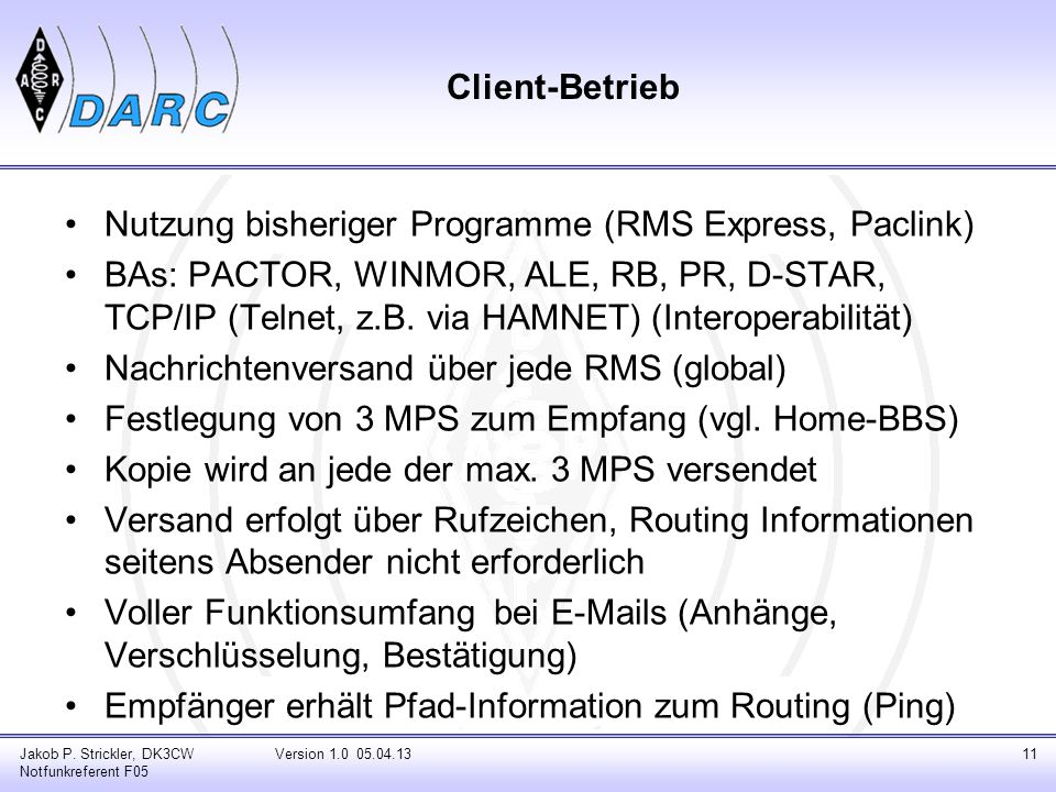 Nutzung bisheriger Programme (RMS Express, Paclink)