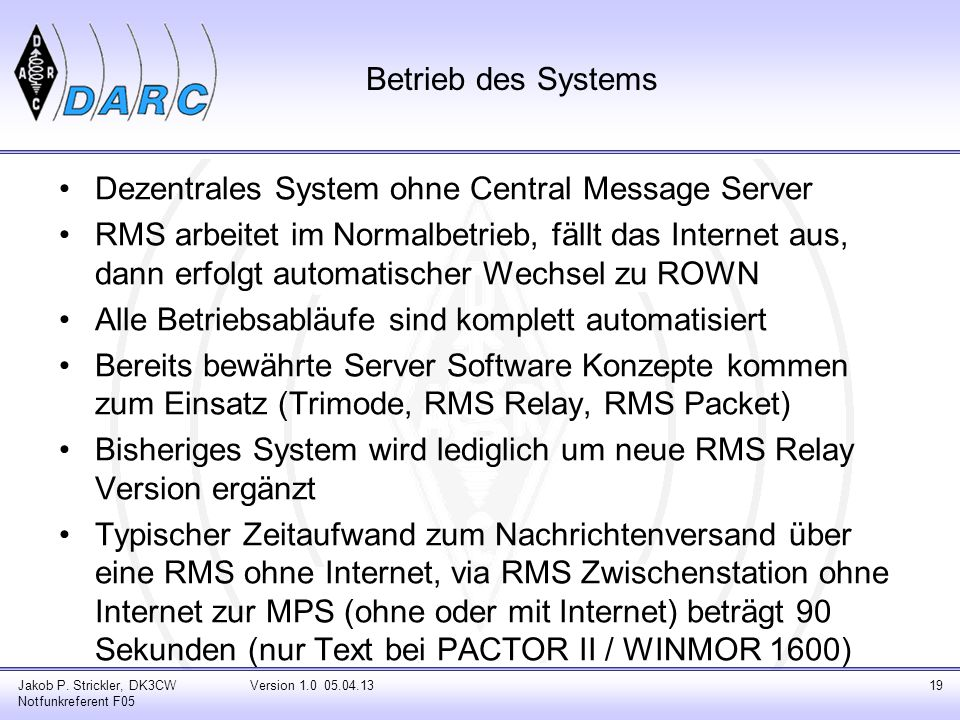 Dezentrales System ohne Central Message Server
