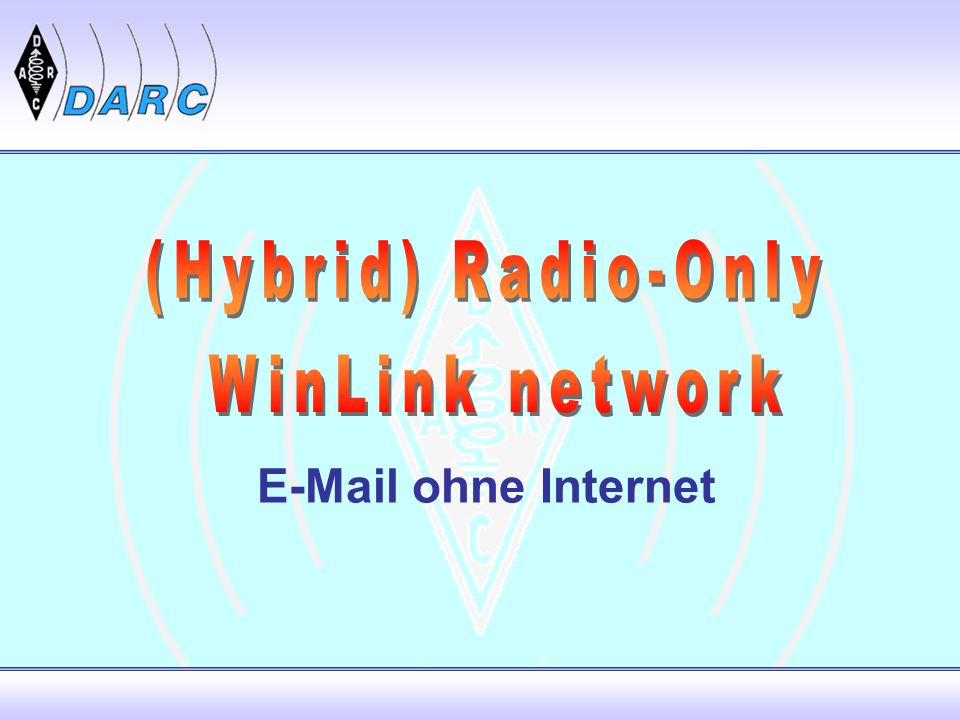 (Hybrid) Radio-Only WinLink network  ohne Internet
