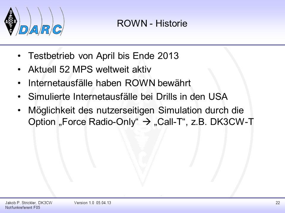 Testbetrieb von April bis Ende 2013 Aktuell 52 MPS weltweit aktiv