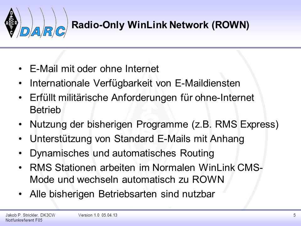 Radio-Only WinLink Network (ROWN)