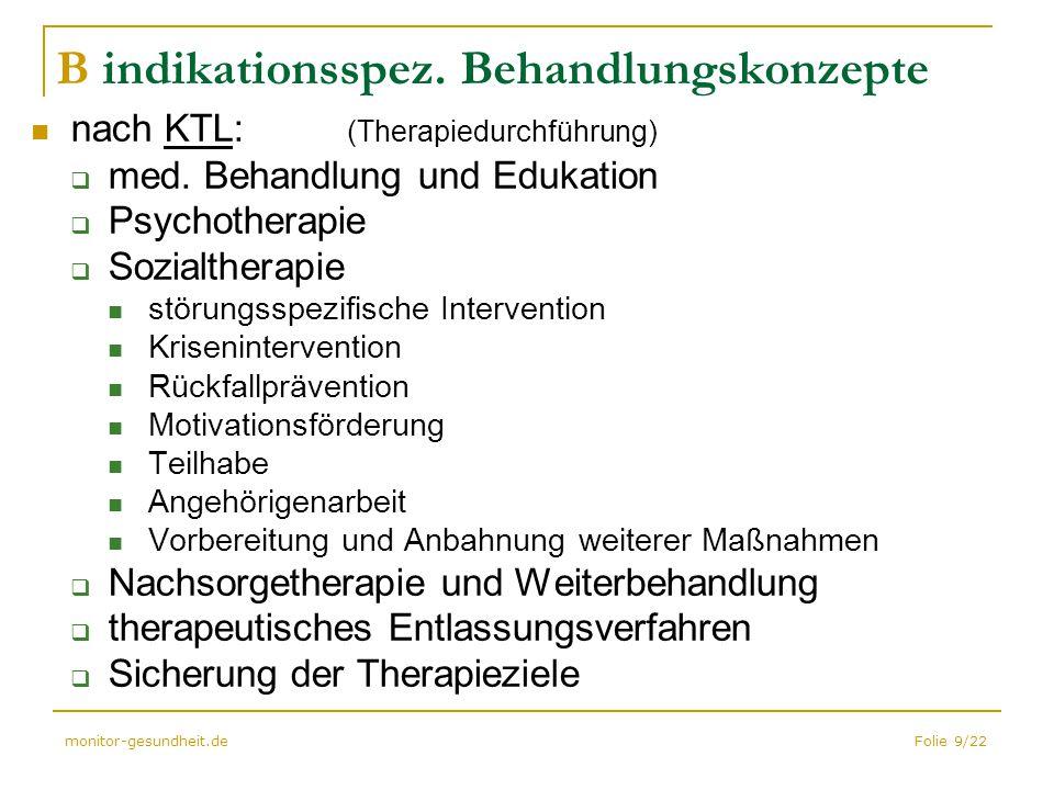 B indikationsspez. Behandlungskonzepte
