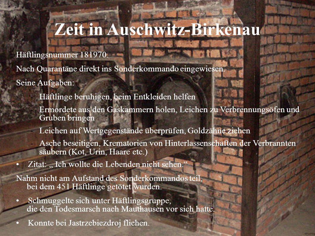 Zeit in Auschwitz-Birkenau