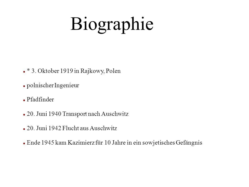 Biographie * 3. Oktober 1919 in Rajkowy, Polen polnischer Ingenieur