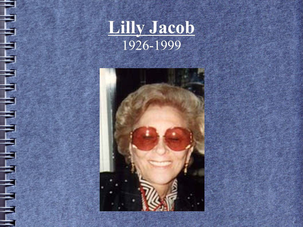Lilly Jacob 1926-1999 3