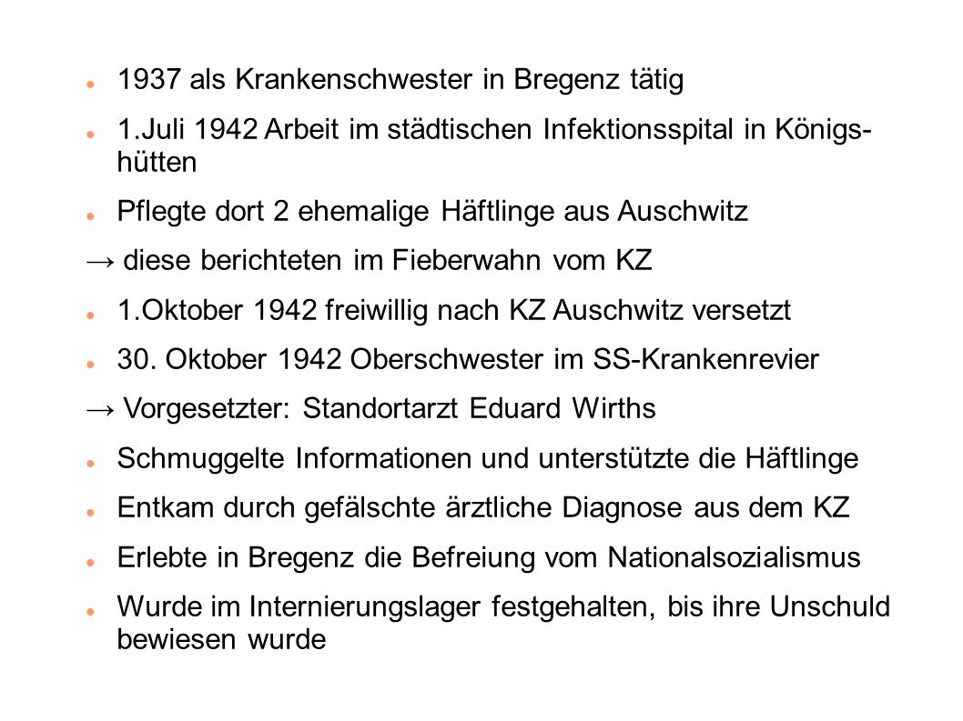 1937 als Krankenschwester in Bregenz tätig