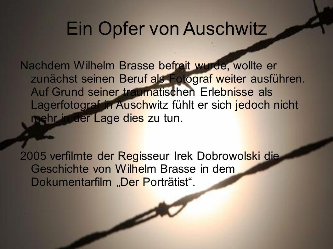 Ein Opfer von Auschwitz