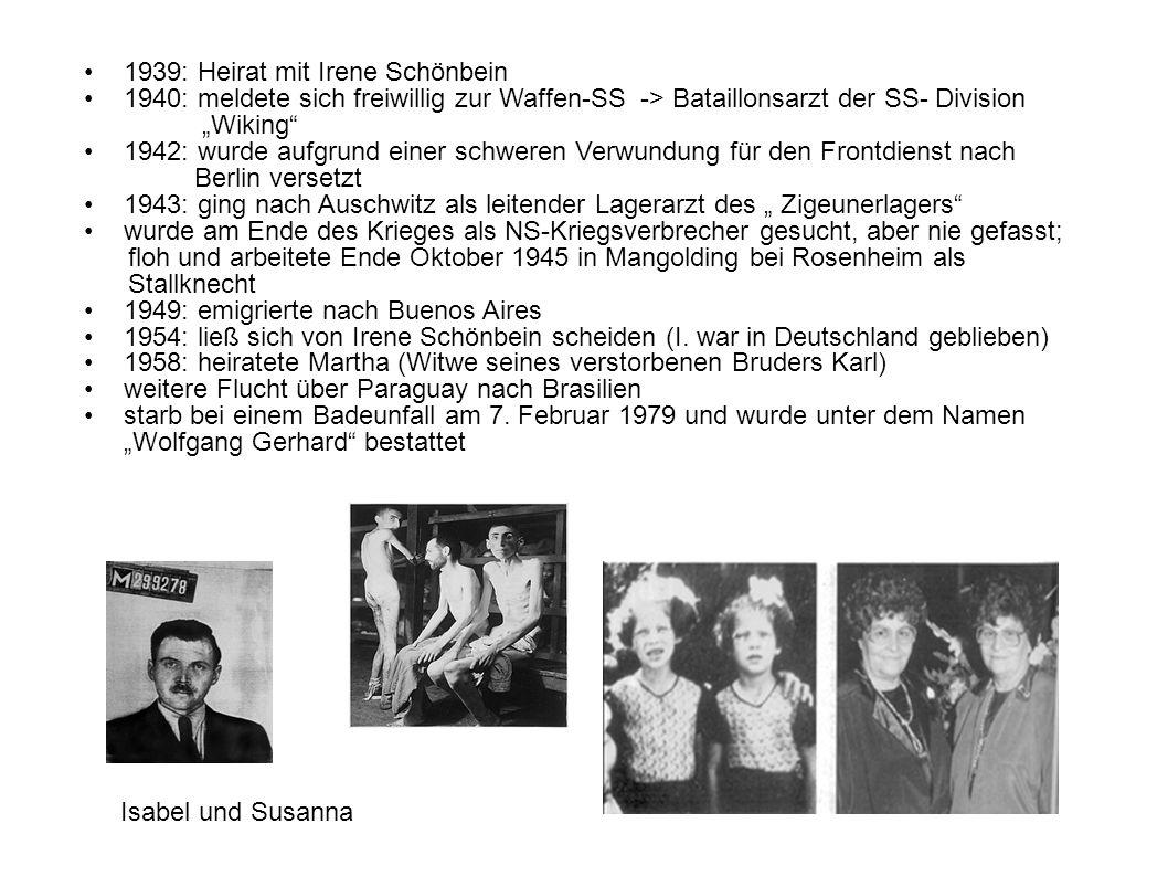 1939: Heirat mit Irene Schönbein