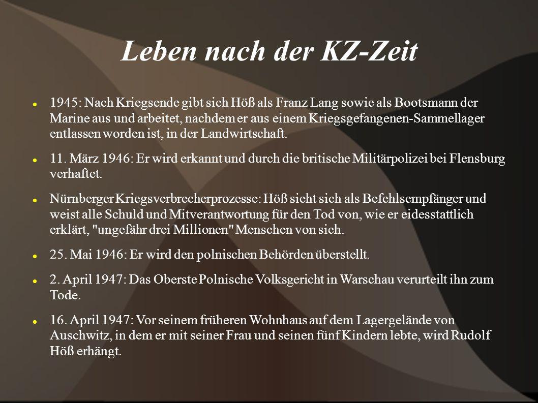 Leben nach der KZ-Zeit