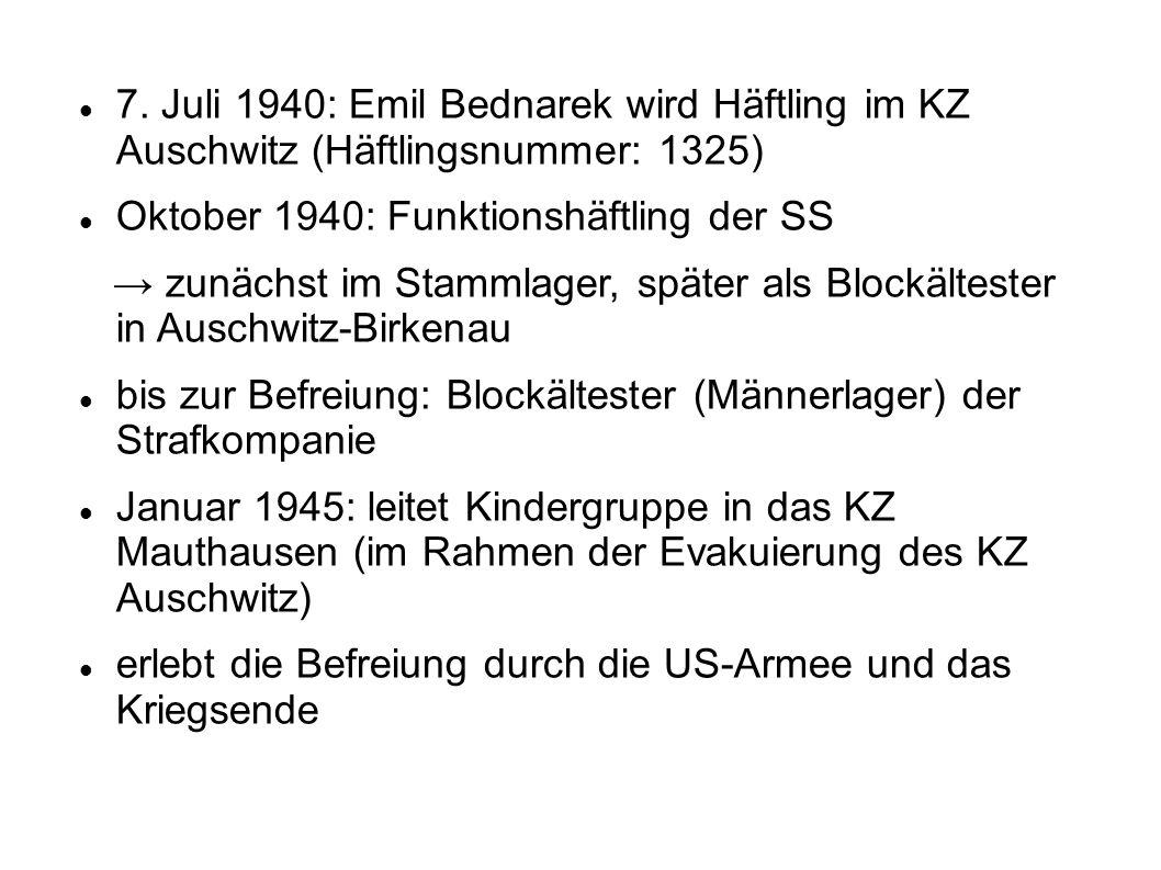 Oktober 1940: Funktionshäftling der SS