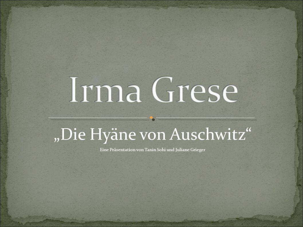 """""""Die Hyäne von Auschwitz"""