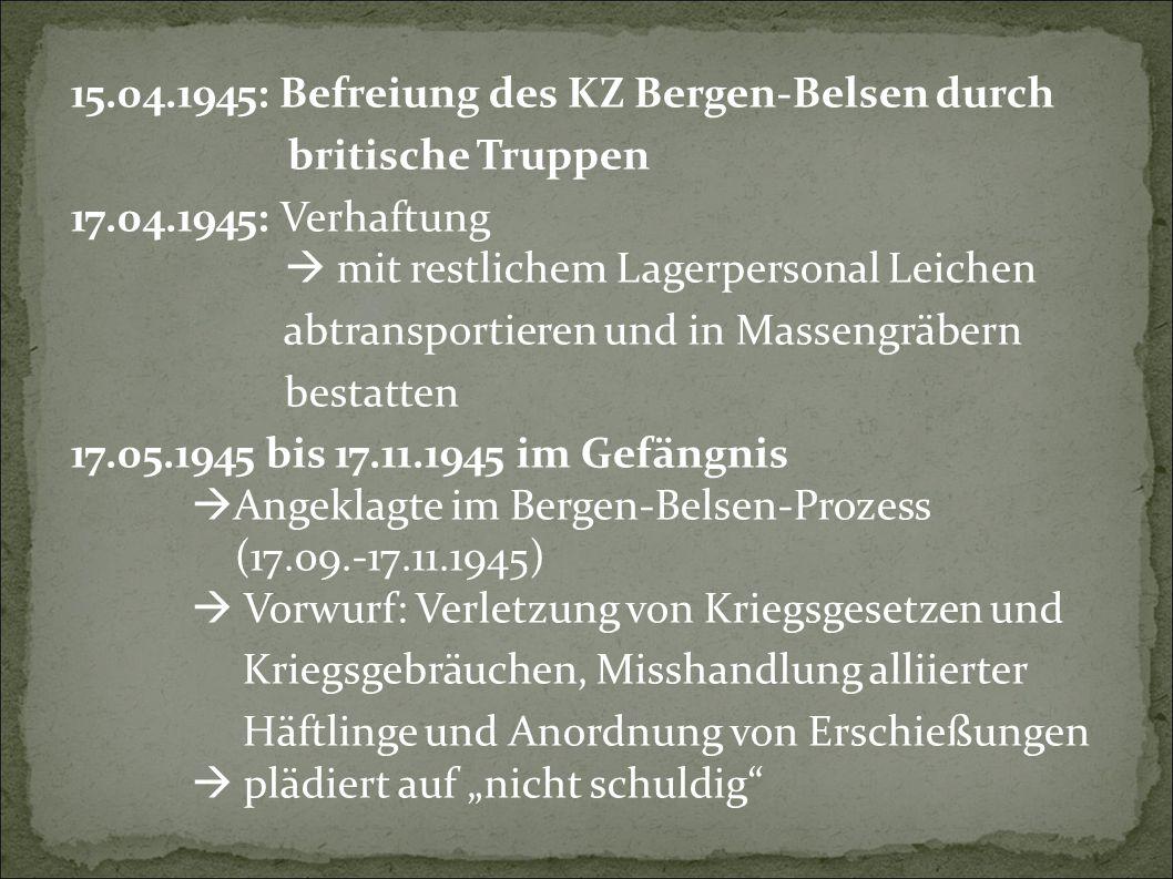 15.04.1945: Befreiung des KZ Bergen-Belsen durch