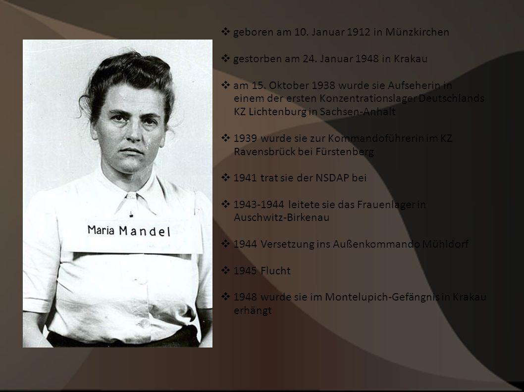 geboren am 10. Januar 1912 in Münzkirchen