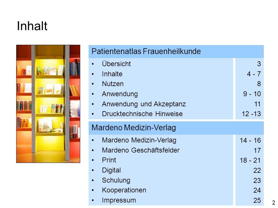 Inhalt Patientenatlas Frauenheilkunde Mardeno Medizin-Verlag Übersicht