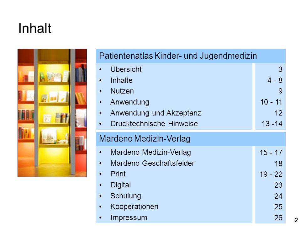 Inhalt Patientenatlas Kinder- und Jugendmedizin Mardeno Medizin-Verlag