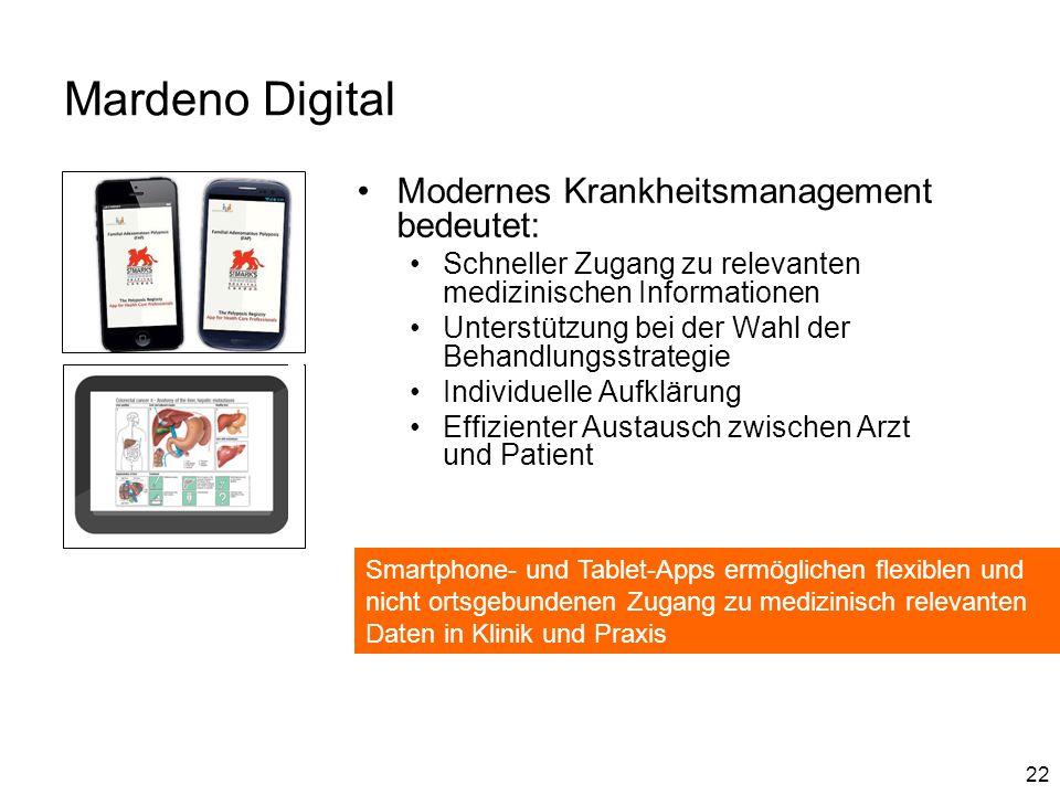 Mardeno Digital Modernes Krankheitsmanagement bedeutet: