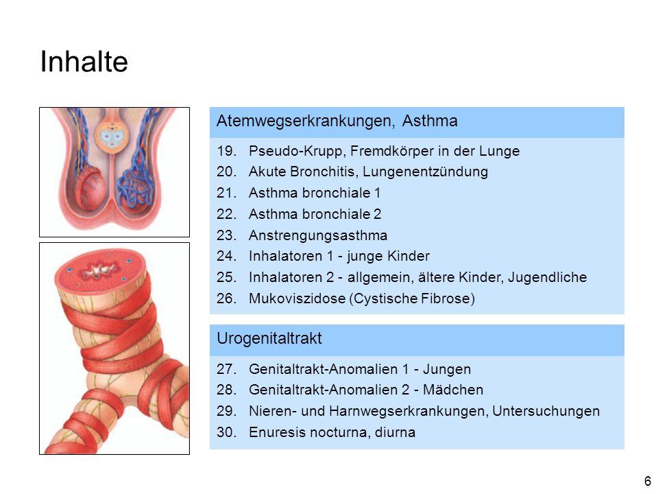 Inhalte Atemwegserkrankungen, Asthma Urogenitaltrakt