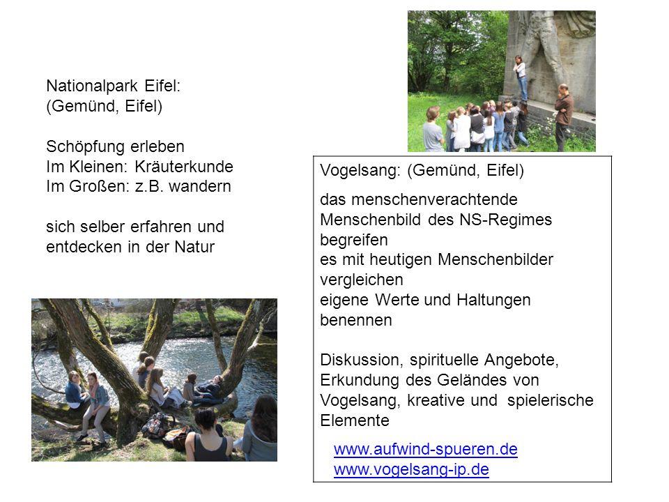 Nationalpark Eifel: (Gemünd, Eifel) Schöpfung erleben. Im Kleinen: Kräuterkunde. Im Großen: z.B. wandern.