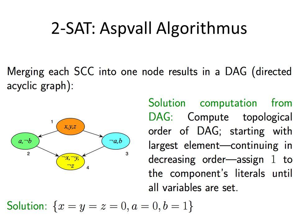 2-SAT: Aspvall Algorithmus