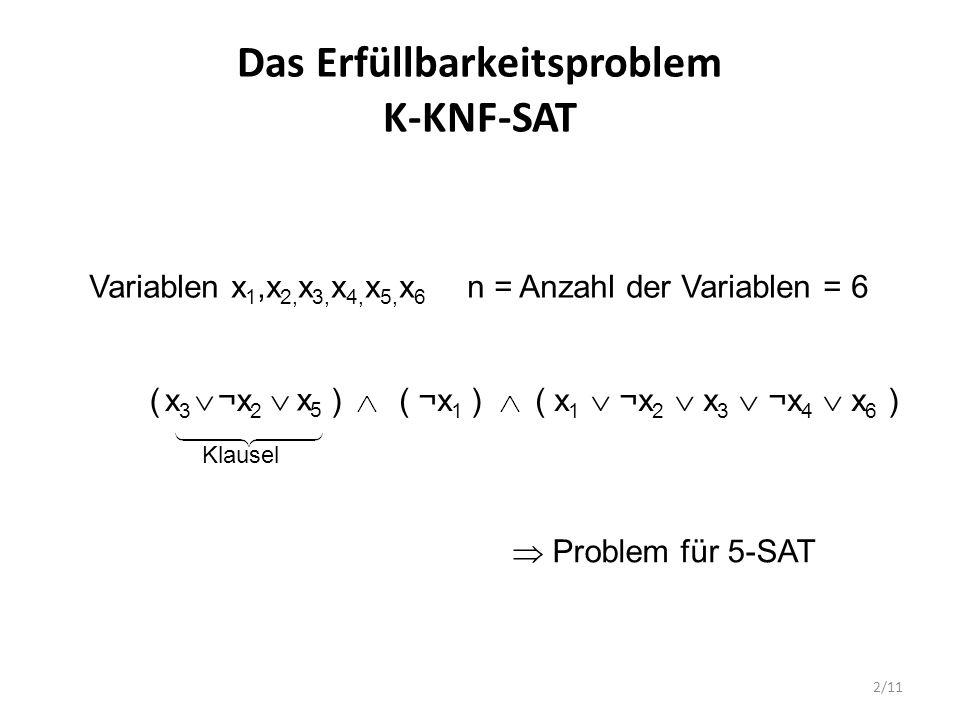 Das Erfüllbarkeitsproblem K-KNF-SAT