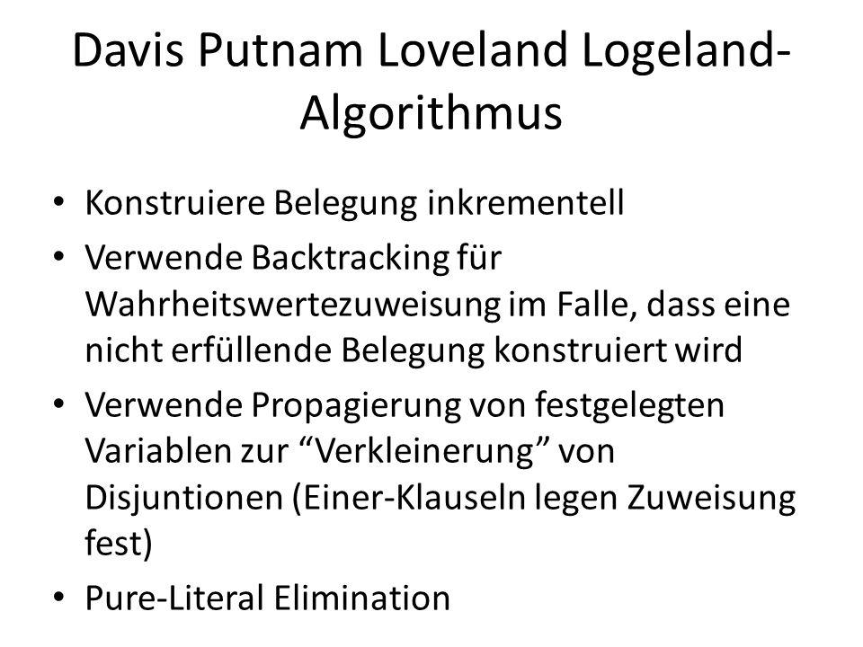 Davis Putnam Loveland Logeland-Algorithmus