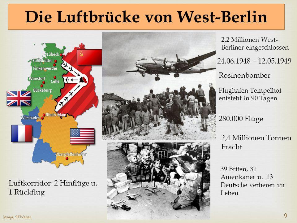 Die Luftbrücke von West-Berlin