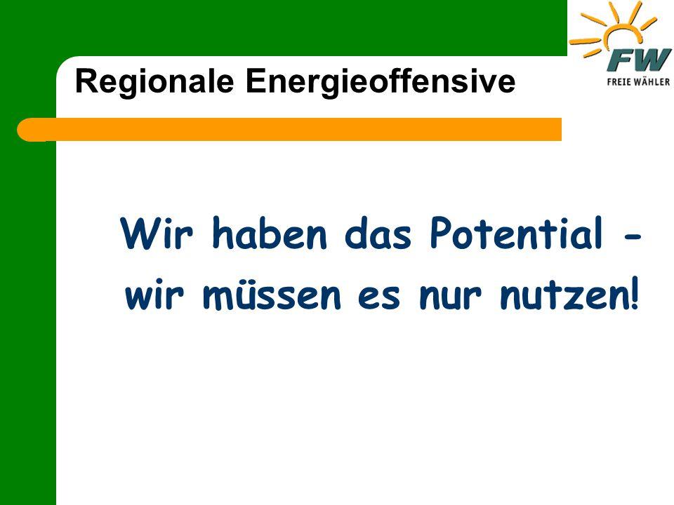 Regionale Energieoffensive