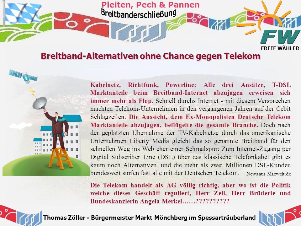 Breitband-Alternativen ohne Chance gegen Telekom