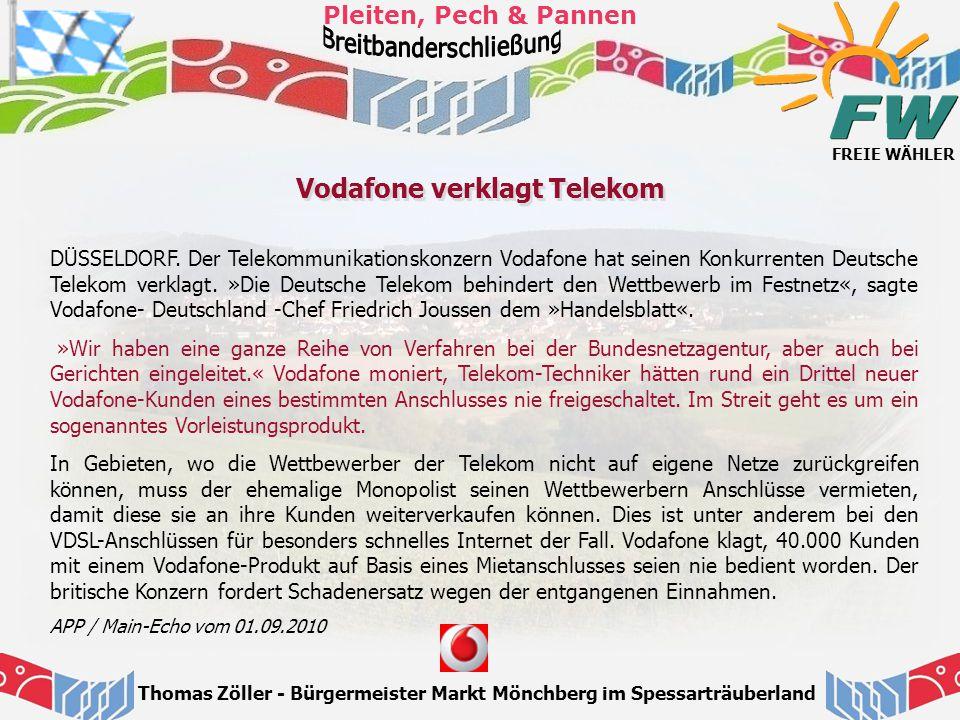 Vodafone verklagt Telekom