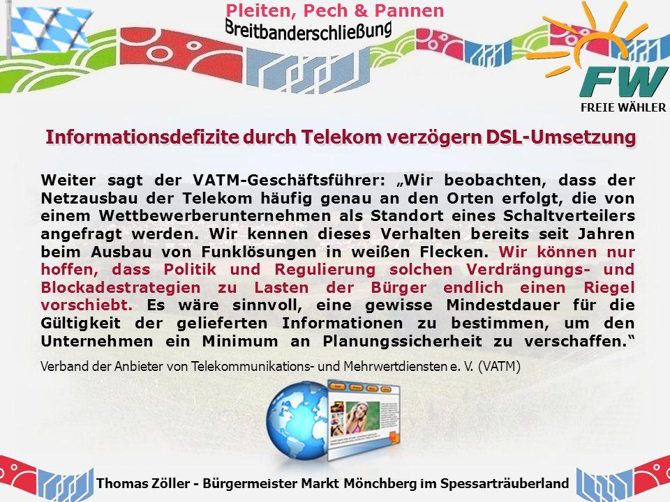 Informationsdefizite durch Telekom verzögern DSL-Umsetzung