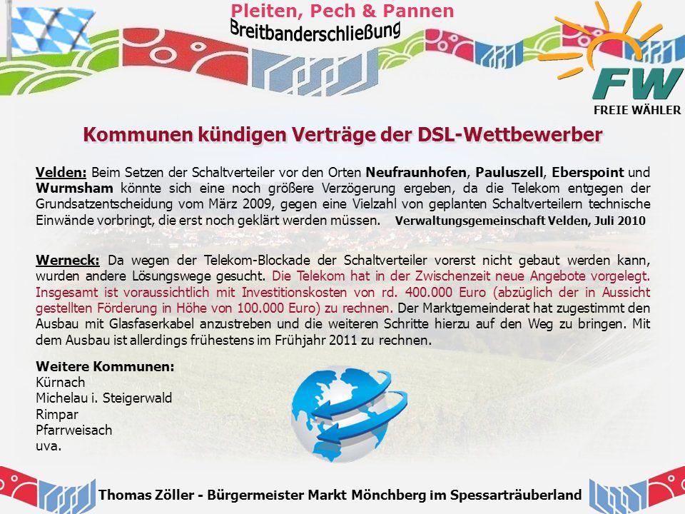 Kommunen kündigen Verträge der DSL-Wettbewerber
