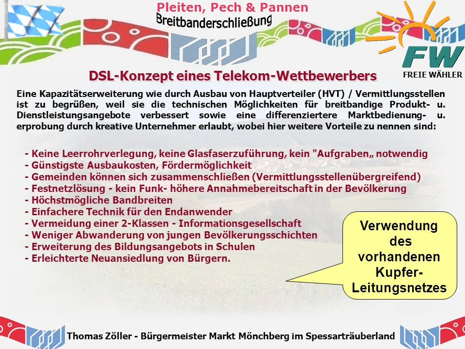 DSL-Konzept eines Telekom-Wettbewerbers
