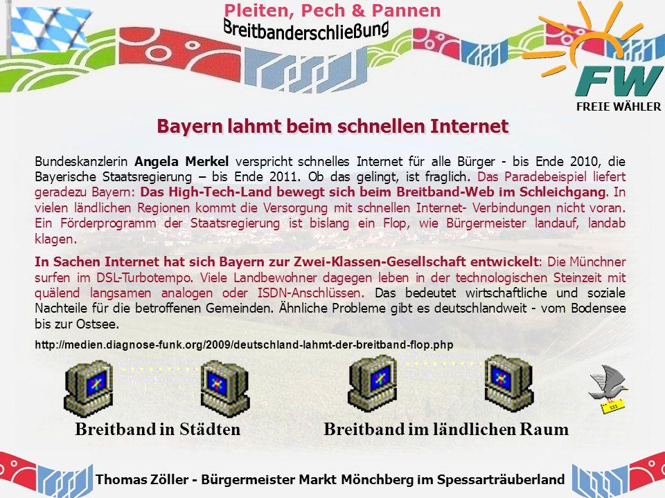 Bayern lahmt beim schnellen Internet Breitband im ländlichen Raum
