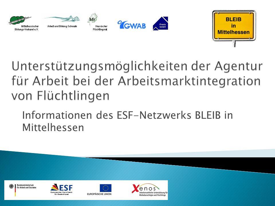 Informationen des ESF-Netzwerks BLEIB in Mittelhessen