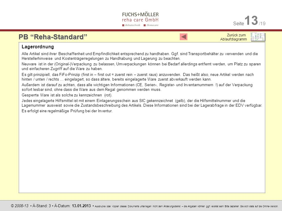 PB Reha-Standard Lagerordnung